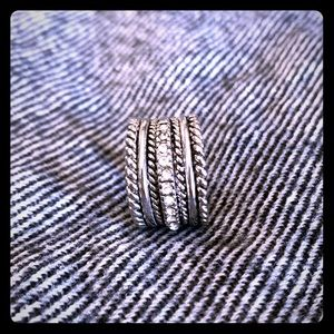 Silver Faux Stacked Ring